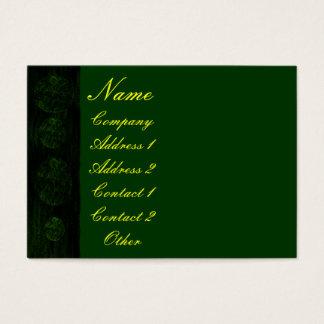 Cartão De Visitas Verde de caçador antigo envelhecido