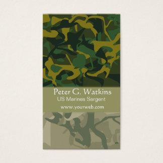 Cartão De Visitas Verde de Environtmentalist da região selvagem da