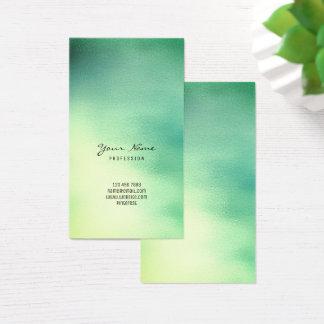 Cartão De Visitas Verde do amarelo verde da cerceta da hortelã vidro