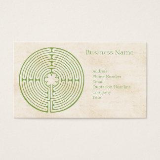 Cartão De Visitas Verde do labirinto de Chartres