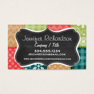 Cartão De Visitas Verde limão bonito, turquesa, e escarlate do