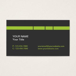 Cartão De Visitas Verde limão moderno/linhas e listras cinzentas