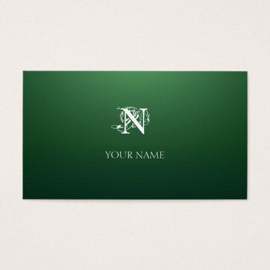 Cartão De Visitas Verde Nouveau