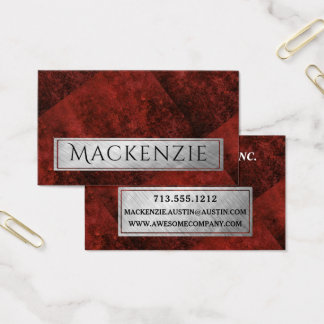 Cartão De Visitas Vermelho carmesim da grandada feita sob encomenda