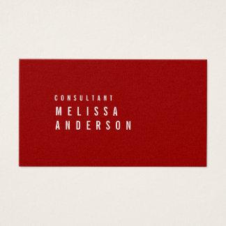 Cartão De Visitas Vermelho carmesim minimalista moderno elegante