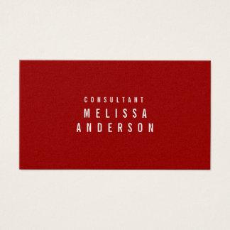 Cartão De Visitas Vermelho carmesim simples moderno profissional