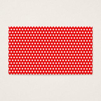 Cartão De Visitas Vermelho com os pontos brancos minúsculos