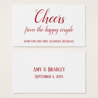 Cartão De Visitas Vermelho de cereja nos bilhetes editáveis brancos