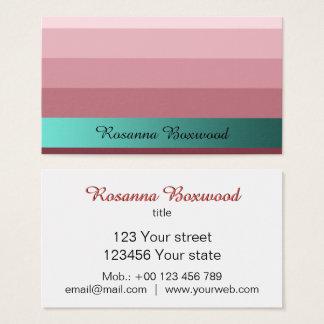 Cartão De Visitas Vermelho do rosa do inclinação com texto do