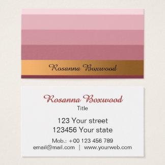 Cartão De Visitas Vermelho do rosa do inclinação com texto dourado