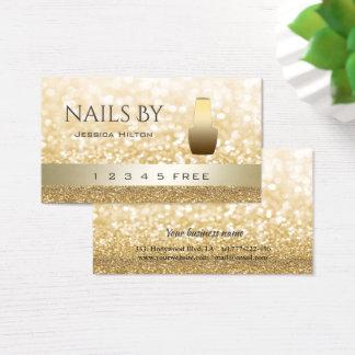 Cartão De Visitas verniz para as unhas brilhante do bokeh glittery