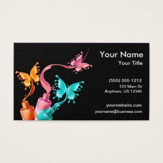 Cartão De Visitas Verniz para as unhas da borboleta