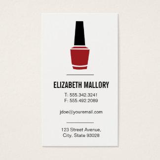 Cartão De Visitas Verniz para as unhas | minimalista