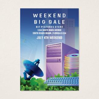 Cartão De Visitas Vertical de mercado da venda da tecnologia da