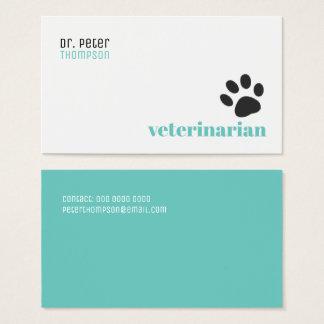 Cartão De Visitas veterinário veterinário. animais de estimação/pata