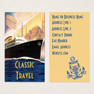 Cartão De Visitas Viagem clássico do navio de cruzeiros