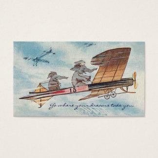 Cartão De Visitas Viagem inspirador engraçado do piloto do