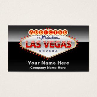Cartão De Visitas Viciado sinal engraçado de Las Vegas, Nevada