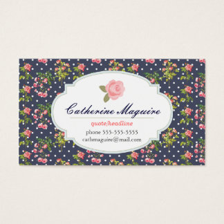 Cartão De Visitas Victorian do vintage floral alguma ocupação