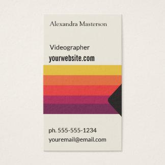 Cartão De Visitas Video tape retro de VHS para Videographers,