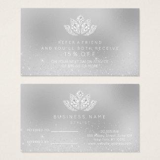 Cartão De Visitas Vidro branco das cinzas de Lotus do diamante do