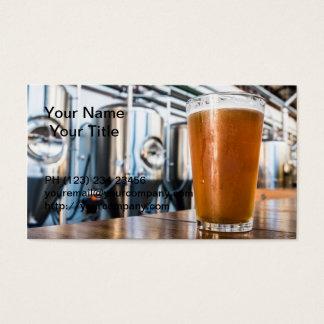 Cartão De Visitas Vidro da cerveja no Microbrewery