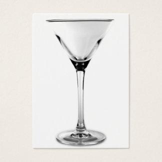 Cartão De Visitas vidro de martini