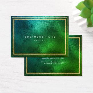 Cartão De Visitas Vidro tropical das hortaliças do quadro dourado