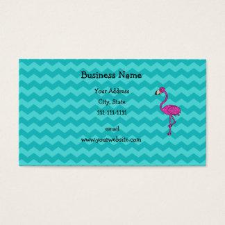 Cartão De Visitas Vigas cor-de-rosa de turquesa do flamingo