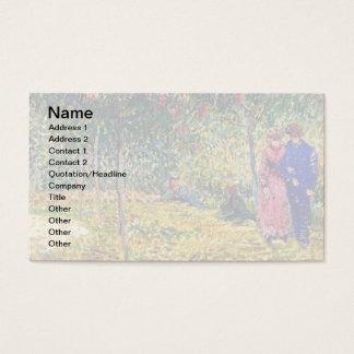 Cartão De Visitas Vincent van Gogh - casais de cortejo no parque