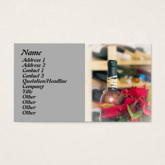 Cartão De Visitas Vinho do feriado