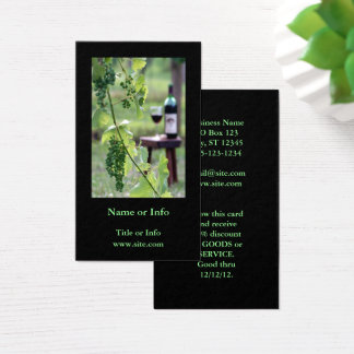 Cartão De Visitas Vinho no vinhedo