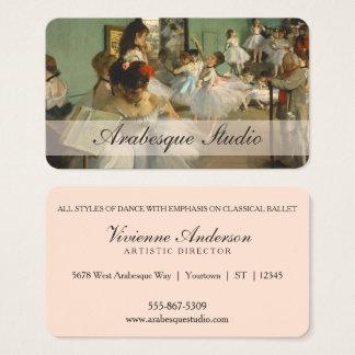 Cartão De Visitas Vintage da classe de dança | do balé Edgar Degas |