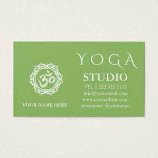 Cartão De Visitas Vintage da mandala do instrutor da ioga