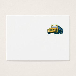 Cartão De Visitas Vintage do auto escolar retro