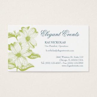 Cartão De Visitas Vintage elegante floral