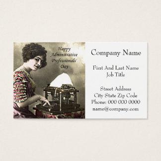 Cartão De Visitas Vintage profissional administrativo Pho do dia do