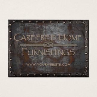 Cartão De Visitas Vintage quadro do mobiliário metal oxidado