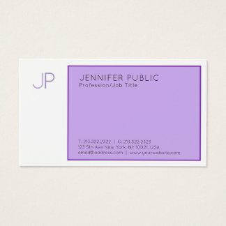 Cartão De Visitas Violeta elegante da planície profissional moderna