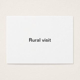 Cartão De Visitas Visita rural