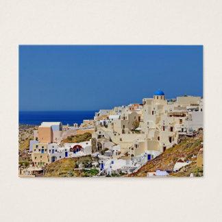 Cartão De Visitas Vista panorâmica de Santorini