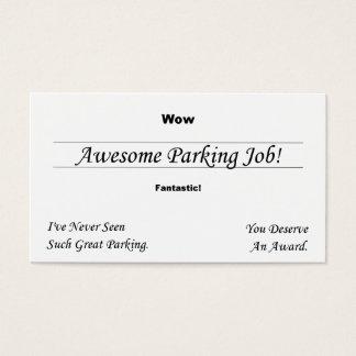 Cartão De Visitas Você suga no estacionamento