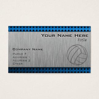 Cartão De Visitas Voleibol escovado do Metal-olhar