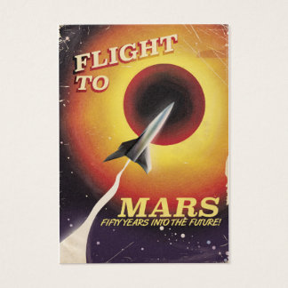 Cartão De Visitas Vôo a Marte! poster da ficção científica do