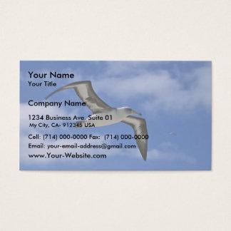 Cartão De Visitas Vôo do albatroz de Laysan no ar
