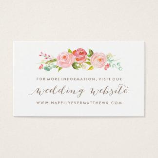 Cartão De Visitas Web site floral do casamento do jardim de rosas