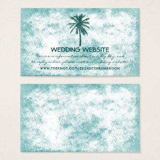 Cartão De Visitas Web site tropical do casamento de praia da