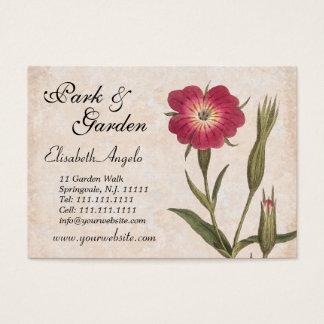 Cartão De Visitas Wildflowers e insetos da colagem de amante de
