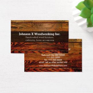 Cartão De Visitas Woodworking de madeira rústico da carpintaria da