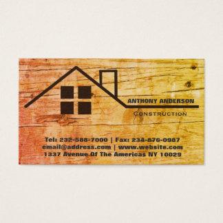 Cartão De Visitas Woodworking e construção da carpintaria